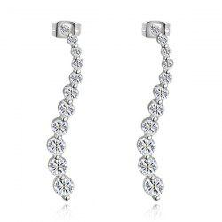 Pair of Rhinestones Long Earrings