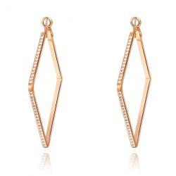 Pair of Rhinestones Square Hoop Earrings -