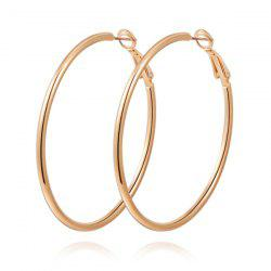 Pair of Large Hoop Earrings