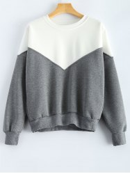 Round Neck Splicing Sweatshirt