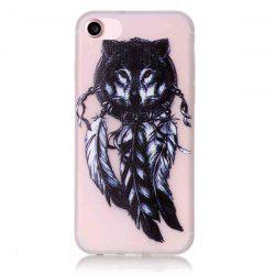 Silicon Wolf Feather Night Luminous Phone Back Case For iPhone 7 -