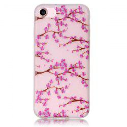 Noctilucent Floral Soft Clear TPU Back Case For iPhone 7 -