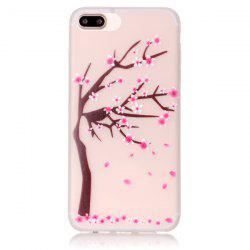 For iPhone 7 Plus TPU Silica Floral Luminous Phone Back Case -