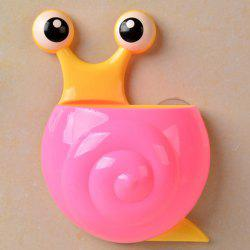 Multifunctional Cartoon Snail Wall Sucker Novelty Storage Box - PINK