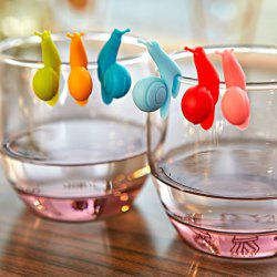 Kitchen Tool 6PCS Cartoon Snail Silicon Cup Hanging Distinguish Clips - COLORMIX