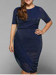 Plus Size Open Back Asymmetrical Dress -