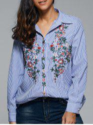 Tiny Floral Embroidery Shirt -