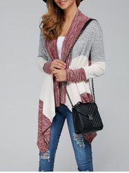 Open Front Irregular Hem Cardigan - COLORMIX