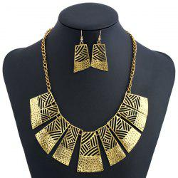 Hollow Out Geometric Charm Jewelry Set -
