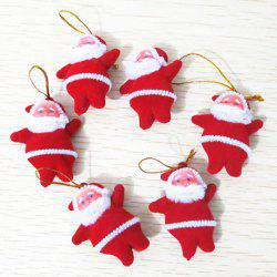 6PCS Festival Party Supplies Christmas Senta Hanging Decoration - WHITE