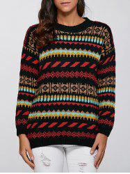 Christmas Geometric Pullover Knit Sweater -