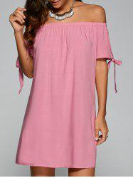 Tie Sleeve Off-The-Shoulder Dress -
