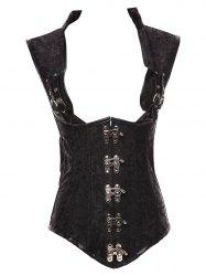 Steampunk Cupless Steel Boned Corset Vest
