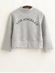 Loose Letter Cropped Sweatshirt -