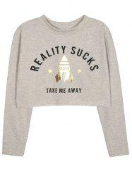Cropped Graphic Sweatshirt