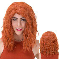 Shaggy Medium Curly Synthetic Wig