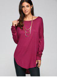 Drop Shoulder High Low Tunic T-Shirt