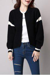 Knitted Open Front Bomber Jacket -