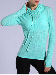 Heathered Dry-Quick Drawstring Hoodie - Vert clair M