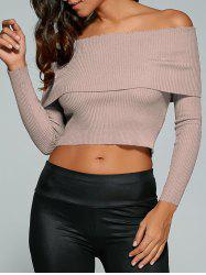 Fitted Off The Shoulder Jumper - NUDE PINK M