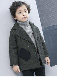 Boys Double-Breasted Wool Coat -