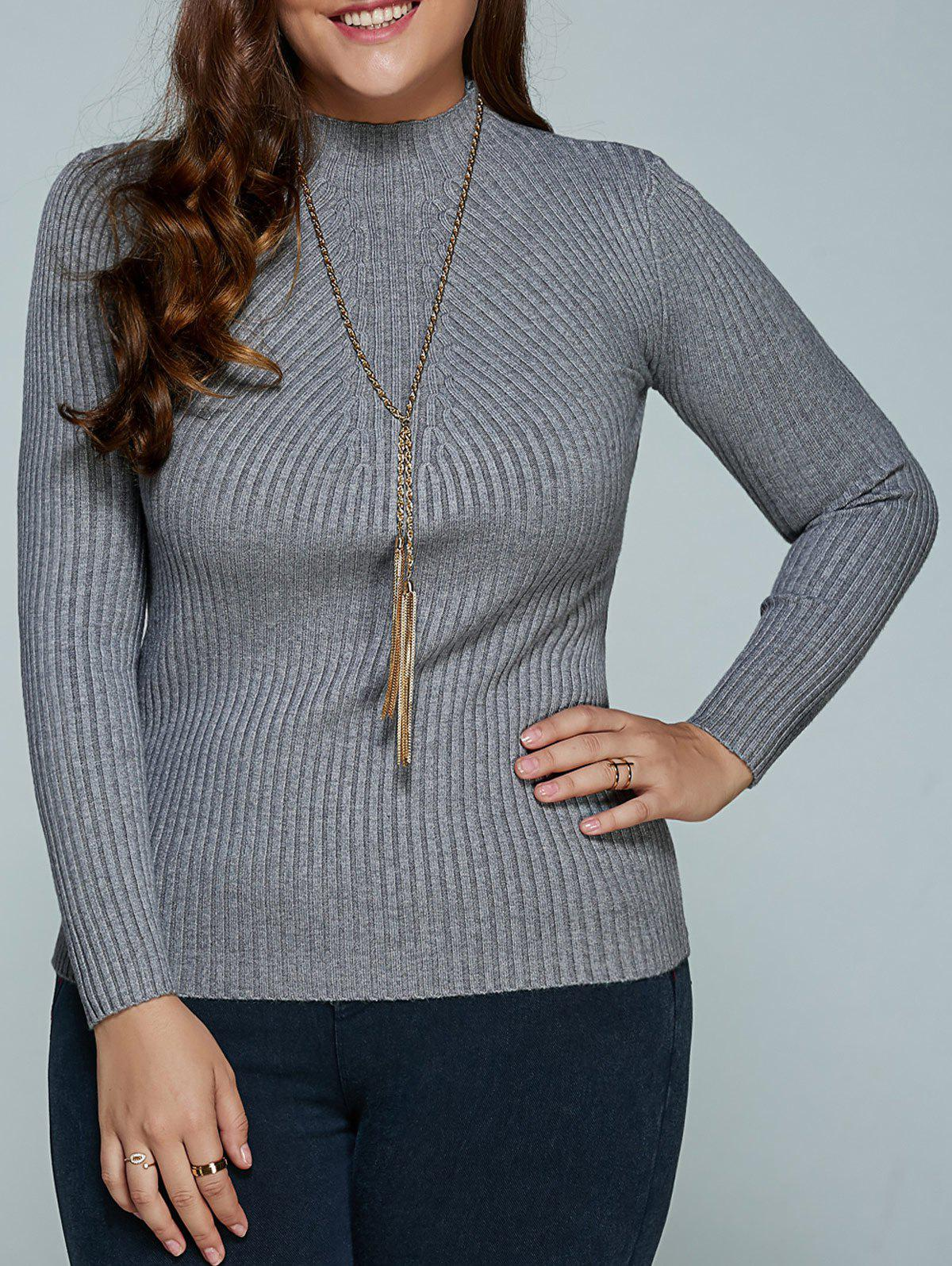 Shops Plus Size Ribbed Fitted Knitwear