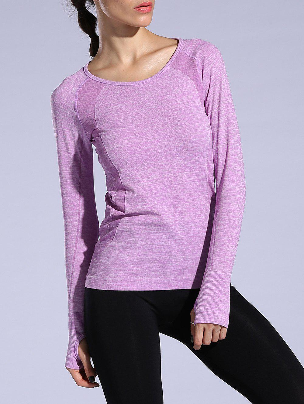 T-shirt sportif Heathered Dry-rapide Violet clair M