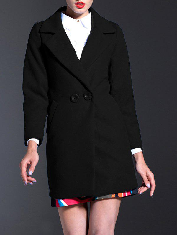 New Lapel Walker Wool Blend Coat