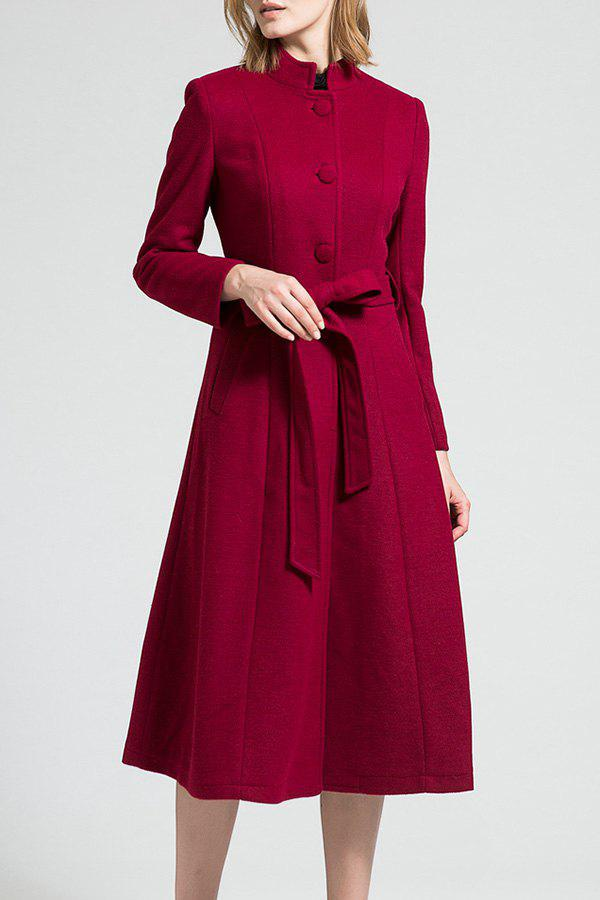Shop Skirted Wool Blend Coat with Belt