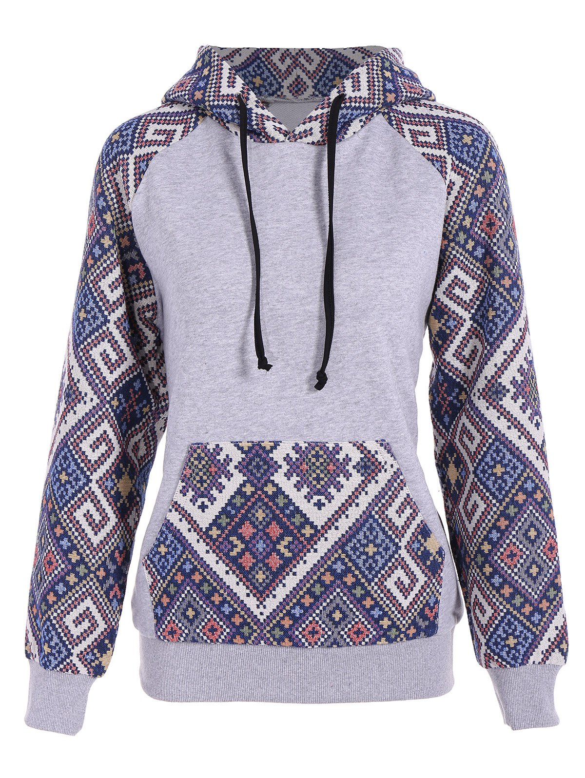 Sweat à Capuche Jacquard Tribal