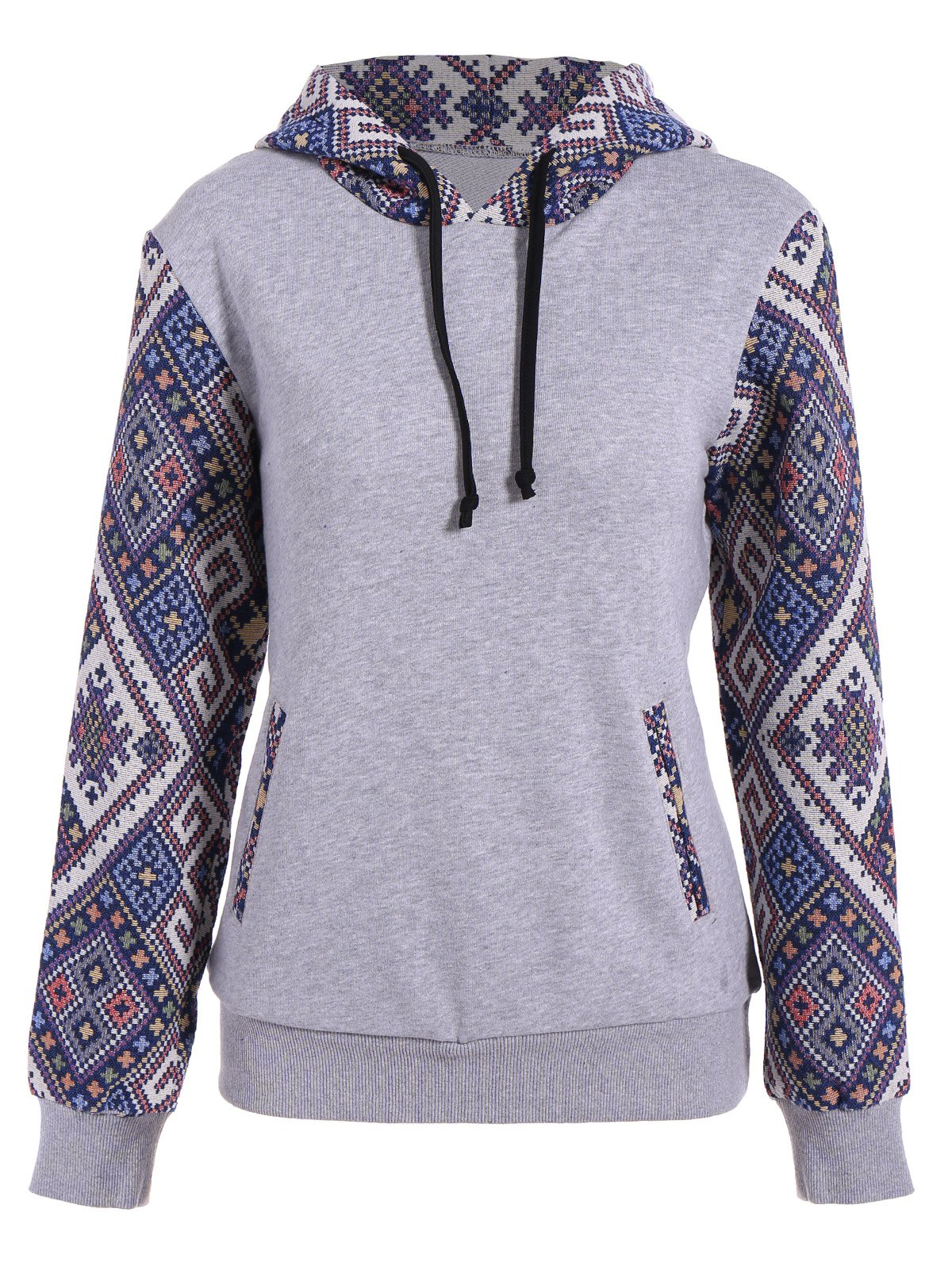 Best Front Pocket Jacquard Panel Hoodie