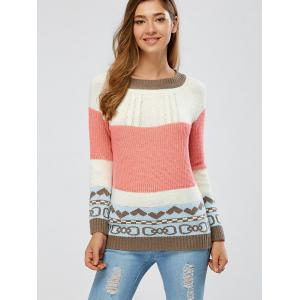 Color Block Cable Knit Jumper