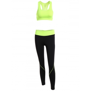 Racerback Sport Bra + High Waisted Leggings