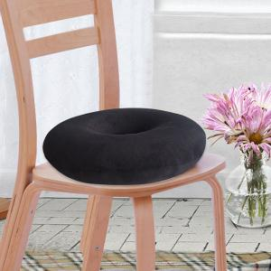 Soft Short Plush Donut Chair Bottom Seat Cushion