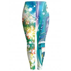 Colorful Print Bodycon Christmas Leggings