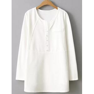 Plus Size Button Embellished Blouse