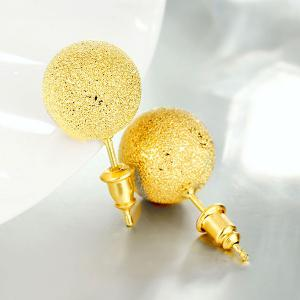 Bead Ball Stud Earrings