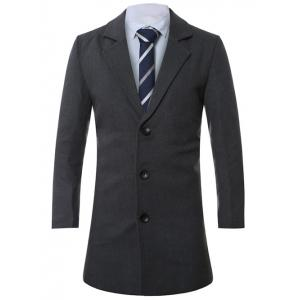 Lapel Single-Breasted Lengthen Wool Coat