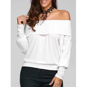 Off The Shoulder Long Sleeve T-Shirt