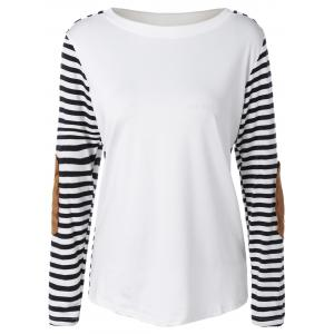 Long Sleeve Striped T-Shirt With Elbow Patch