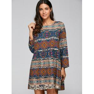Vintage Tribal Printed A Line Dress
