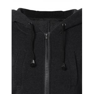 Drawstring Hooded Coat with Pockets -