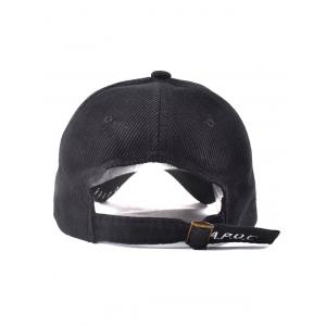 Casual A Piece of Cake Embroidery Hollow Hoop Inlay Corduroy Baseball Hat -