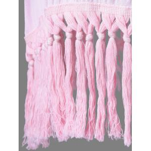 Ombre Color Fringed Blouse -