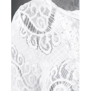 Lace Patchwork Crochet Blouse -