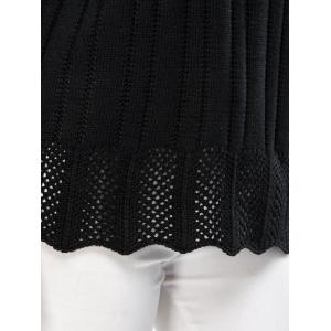 Drop Shoulder Hollow Pullover Sweater -