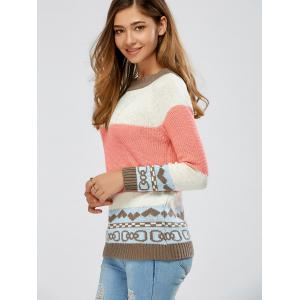 Color Block Cable Knit Jumper - COLORMIX ONE SIZE