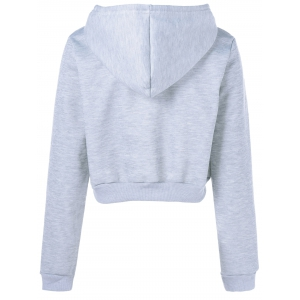 Graphic Cropped Hoodie -