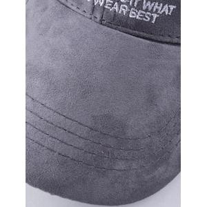 Casual N 85 Embroidery Faux Suede Baseball Hat -