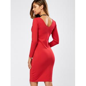 Long Sleeve Tight Cocktail Dress -
